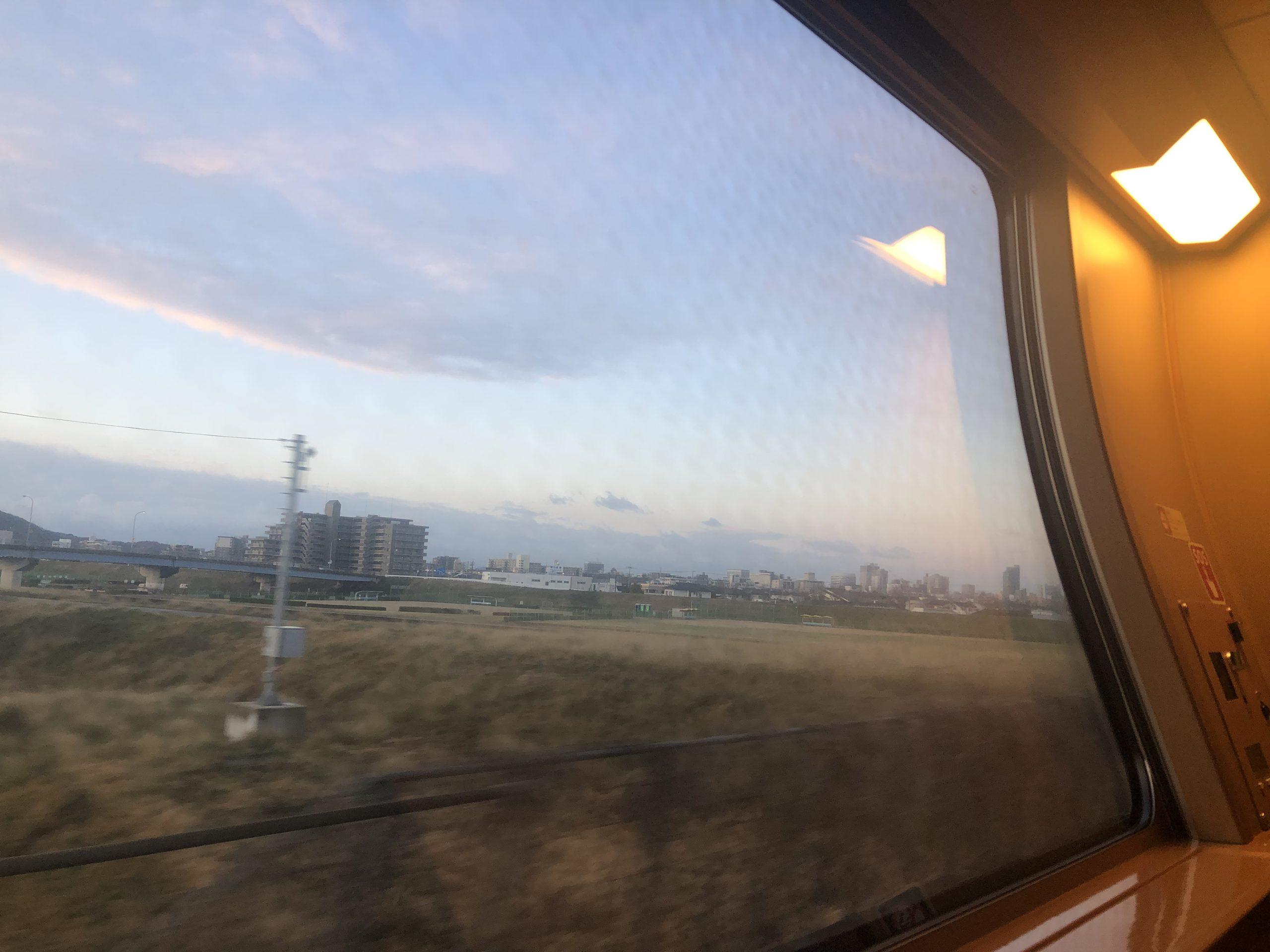 サンライズの車窓(朝)
